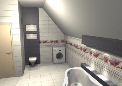 Projekt Łazienki Palmex - Czerwona Orchidea