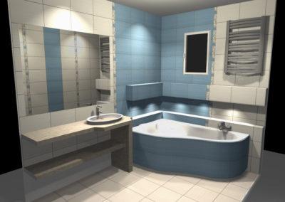 Projekt Łazienki Palmex - Błękitne Marzenie