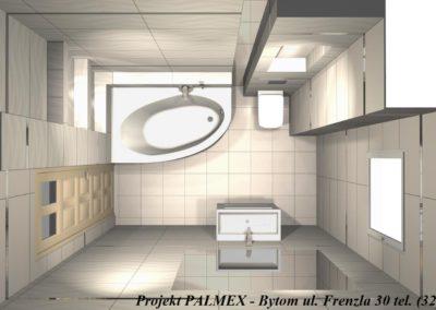 Projekt Łazienki 3D Palmex Bytom 2017-A
