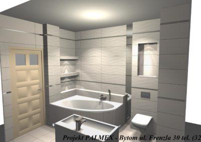 Projekt Łazienki 3D Palmex Bytom 2017-B