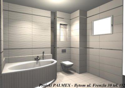 Projekt Łazienki 3D Palmex Bytom 2017-C