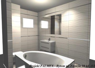 Projekt Łazienki 3D Palmex Bytom 2017-D