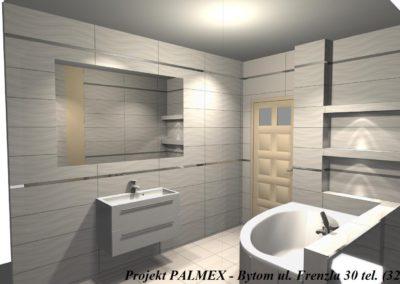 Projekt Łazienki 3D Palmex Bytom 2017-E