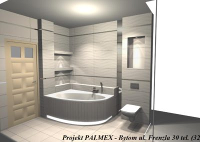 Projekt Łazienki 3D Palmex Bytom 2017-F